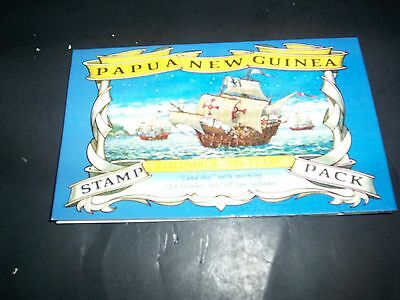 1992 Papua New Guinea Christopher Columbus 500 Years Stamp Pack with 4 MNH stamp