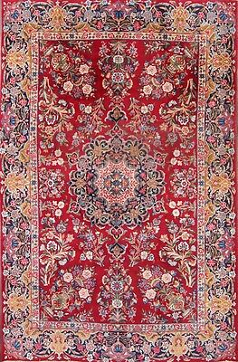 Great Deal Antique Floral Red 7x10 Kerman Persian Oriental Area Rug 10' 4 x 6' 8