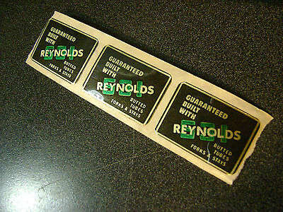 Three(3) reproduction Reynolds 531 bicycle seat tube stickers