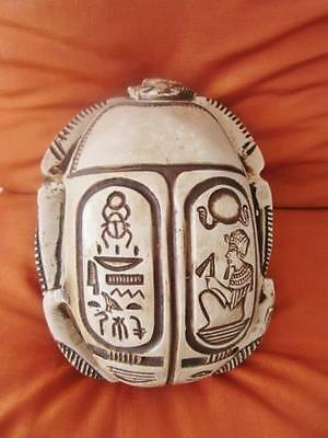 Unique Egyptian Amulet Beetle Scarab Statue Collection With Hieroglyphics-XLarge