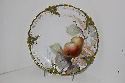 "Beautiful Antique Nymphenburg Hand Painted 8.25"" Porcelain Cabinet Plate-Germany"