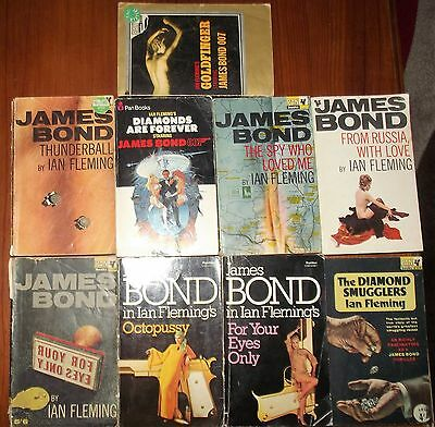 Ian Fleming 007 Bond 9 Book Vintage Collection Octopussy From Russia with Love