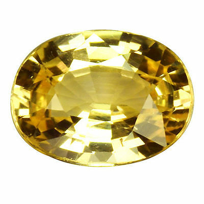 0.680Cts Extraordinary Top Luster Yellow Natural Sapphire Oval Loose Gemstones