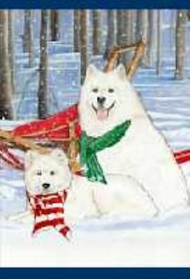 Ten Cards Pack SAMOYED Dog Breed Christmas Cards USA made
