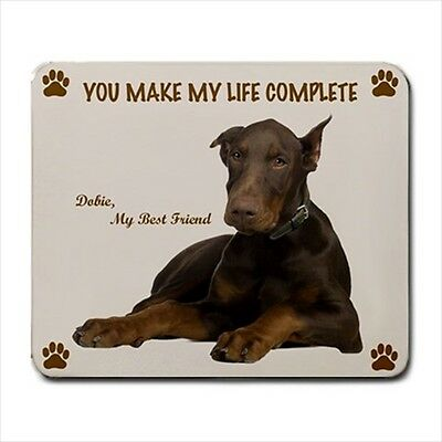 New Design Adorable DOBERMAN PINSCHER Dog Puppy Rubber Computer MOUSE PAD Mat