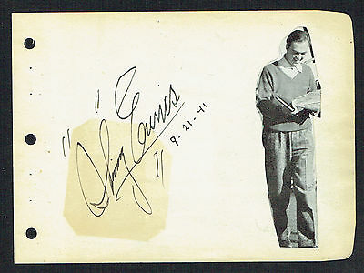 Skinnay Ennis (d. 1963) signed autograph 4x5 Album Page Jazz & Pop Bandleader