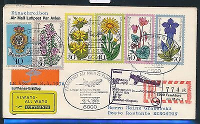 98860) LH FF Reco ! Frankfurt - Kingston Jamaica 8.4.76, Brf Satz Wofa + Label