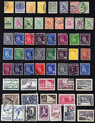 Finland Stamps Interesting Lot from Old Album GCV