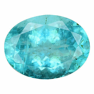 1.655Cts Extremley Blue Green Natural Apatite Oval Loose Gemstones