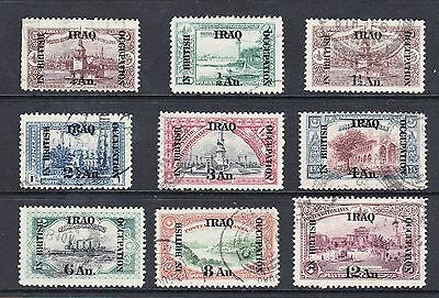Selection Of Early Iraq In British Occupation Vintage Stamps To 12 Annas Used