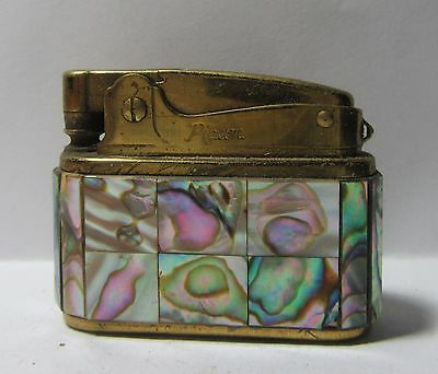 Vintage Small Pigeon Keychain Lighter With Beautiful Abalone Inlay, Remarkable,