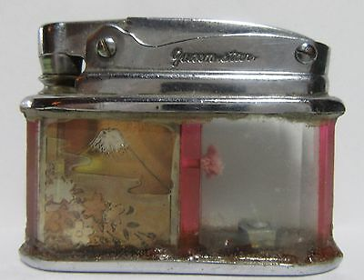 Extremely Rare Queenstar Lighter Made Out Of Cut Glass Panels, Post War Japan,