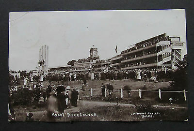 Old POSTCARD ASCOT RACECOURSE Berkshire Written Posted 1914 Attwood No 1333 WWI