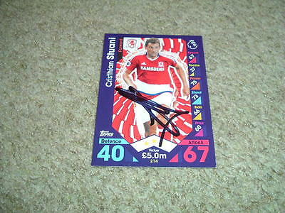 Christian Stuani - Middlesbrough - Signed 16/17 Match Attax Trade Card