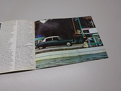 CITROËN ID 19 BROCHURE, in FRENCH. 1966 ?