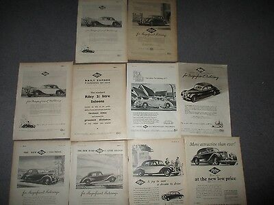 COLLECTION**RILEY**1940s/50s**10 FULL PAGE VINTAGE ORIGINAL ADVERTS