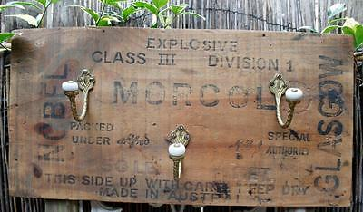 Industrial Timber Hat, Coat Rack - 3 Hooks - Vintage Farmhouse, Recycled