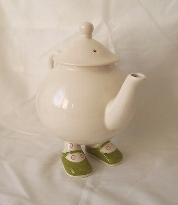 Carlton Ware Lustre Pottery Walking Ware Teapot Green Shoes Roger Michell c.1974