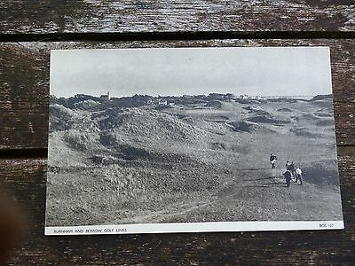 Burnham & Berrow Golf club 17th hole postcard