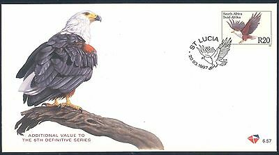 """South Africa 1997 Additional Definitive R20 """"Fish Eagle"""" First Day Cover"""