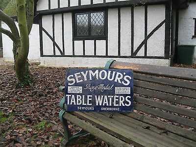 Rare Seymours Table Waters Sherborne Enamel Sign Barn Find