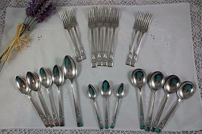 Vintage Sheffield Cutlery Set - Perfection Silver Plated EPNS A1 - Silver Rose