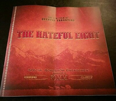 Special 70Mm Roadshow Movie Programme The Hateful Eight Quentin Tarantino