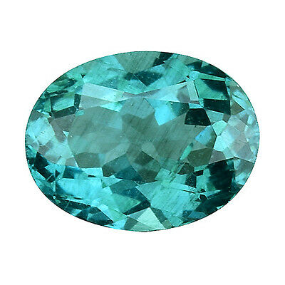 1.120Cts Magnetic Luster Blue Green Natural Apatite Oval Gemstones