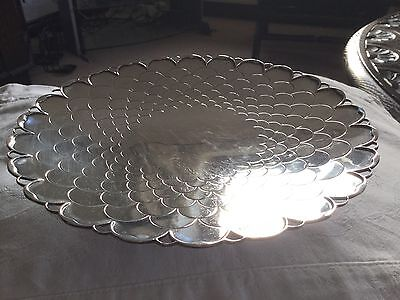 Mappin & Webb Solid Silver Chrysanthemum Dish. 319 Grams Very Good Condition