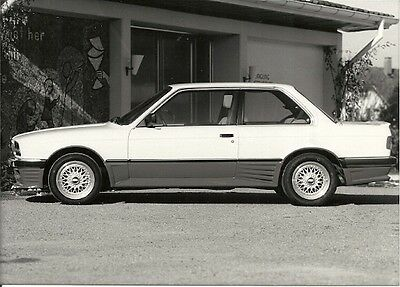 Bmw 3 Series, Merc Surer Carstyle Ag. Period Press Photograph.