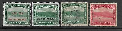 British Colonies small lot of used stamps Dominica Overprinted