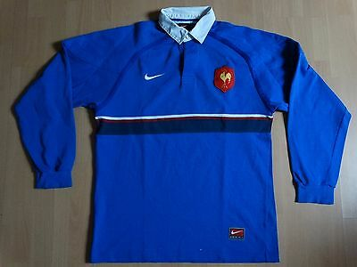 ancien collector maillot rugby XV France FFR  officiel taille M 1999 domicile