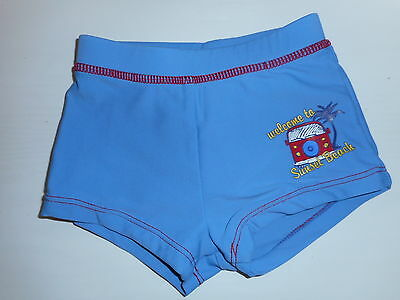 Boys Blue Swim Shorts, Age 12-18 Months, Front Lining.