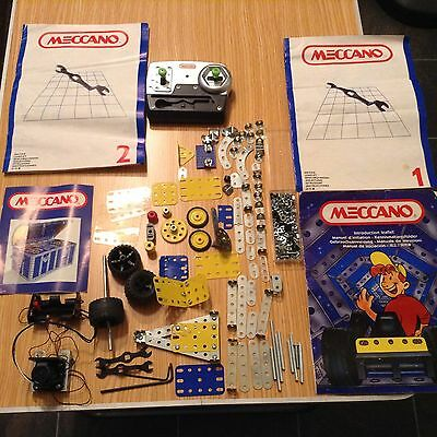 Vintage Meccano Parts Pieces And Instructions