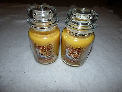 YANKEE CANDLE MAGIC COOKIE BAR 22 oz Jar Candle Cookie Swap LOT 2 NEW LARGE SAVE