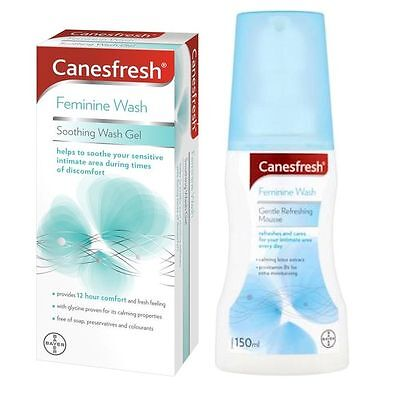Canesten Canefresh Soothing Wash Gel 200ml  & Gentle Refreshing Mousse 150ml New