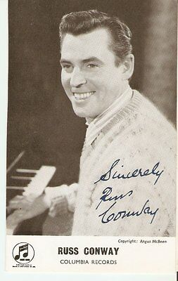 RUSS CONWAY (1925-2000) Popular 50s-60s Pianist Signed pic