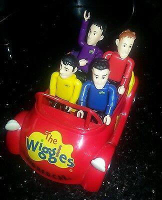 Wiggles car + figures greg jeff anthony murry