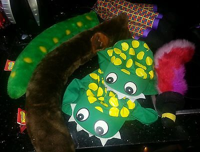 Wiggles wags tail captain sword henry legs dirothy tail hats dressing up bundle