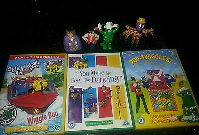 Wiggles figures and dvds bundle