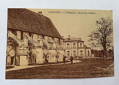 CPA Ancienne Carte Postale Conches L'Hospice-Ancienne Abbaye Eure Normandie