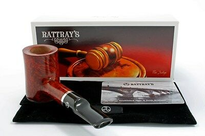 Rattray's Pfeife The Judge Stand up Poker dunkel braun pipe pipa