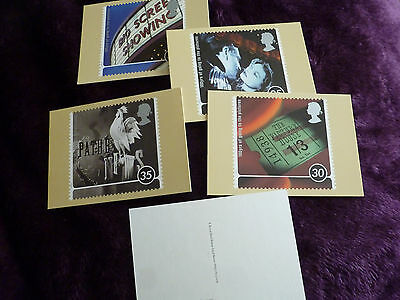 Full Set Of 5 Royal Mail Postcards  - 100 Years Of Going To The Pictures