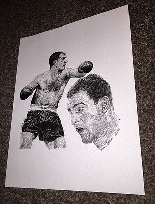 Rocky Marciano Boxing Poster Print By Frank Nareau