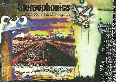 11cm x 15cm Promotional Sticker STEREOPHONICS  Local Boy In The Photograph  MINT