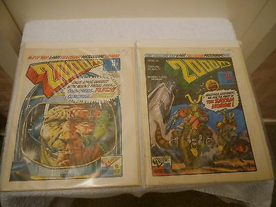2000 Ad - X 2 Very Rare Uk Cult Orig Comics - Progs 26 + 27 Judge Dredd