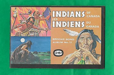 1974 Brooke Bond Tea Card Empty Unused Album Indians of Canada