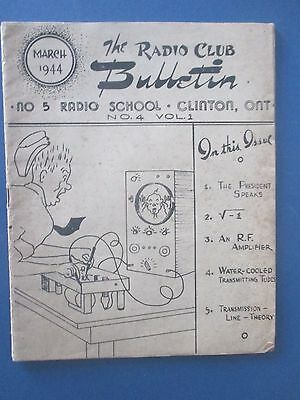 1944  Canadian,clinton (Ont) The Radio Club Bulletin Amature Produced Booklet