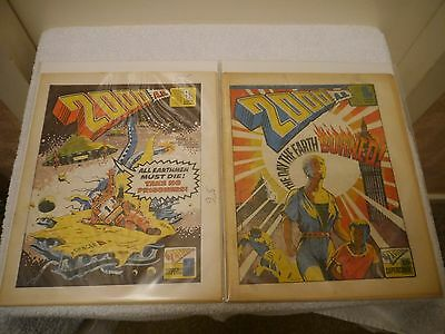 2000 Ad - X 2 Very Rare Orig Uk Cult Comics - Progs 34 + 35 -Judge Dredd
