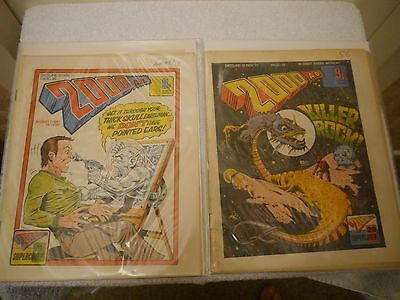 2000 Ad - X 2 Very Rare Orig Uk Cult Comics - Progs 38 + 39 Judge Dredd